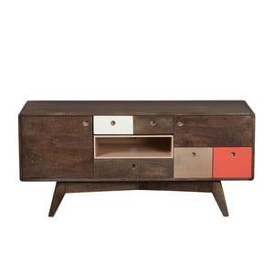 TV komoda zmasívneho mangového dreva Woodjam Play Dark, 120cm