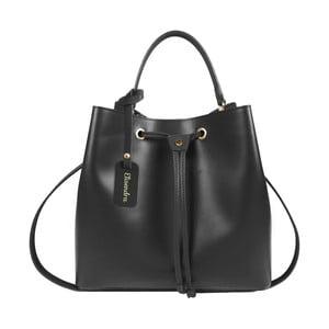Čierna kožená kabelka Maison Bag Lexy