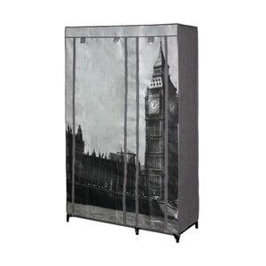 Sivá textilná skriňa na oblečenie Jocca London, 160 x 105 cm
