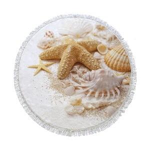 Guľatá plážová osuška Homemania Australia Shels, Ø150cm