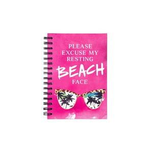 Špirálový zápisník Tri-Coastal Design Beach Face