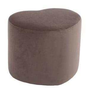 Hnedý sedací puf v tvare srdca J-Line
