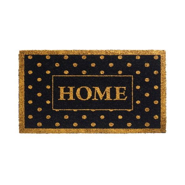 Zlato-čierna rohožka Hamat Home Dots, 40x70cm