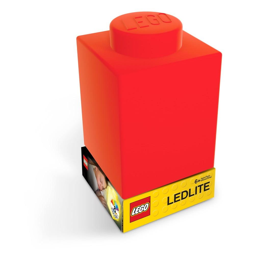 Červené silikónové nočné svetielko LEGO® Classic Brick