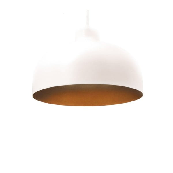 Bielo-zlaté stropné svetlo Loft You B&B, 22 cm