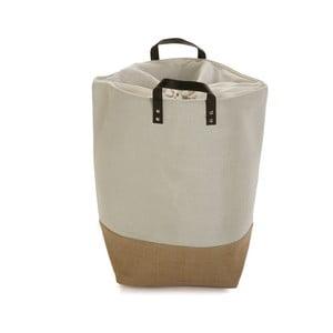 Krémovo-hnedý úložný kôš na prádlo Versa Home