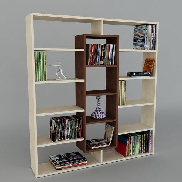 Knižnica Ample Maple/Wenge, 22x125x135,7 cm