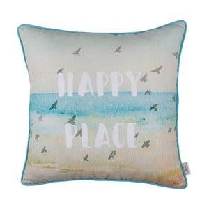 Obliečka na vankúš Apolena Happy Place, 43 x 43 cm