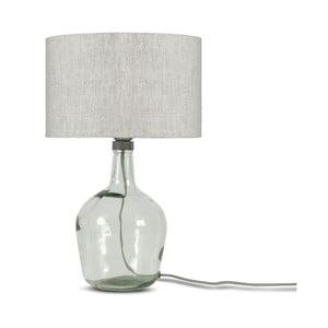 Stolová lampa se svetlobéžovým tienidlom a konštrukciou z recyklovaného skla Good&Mojo Murano, ⌀ 30 cm