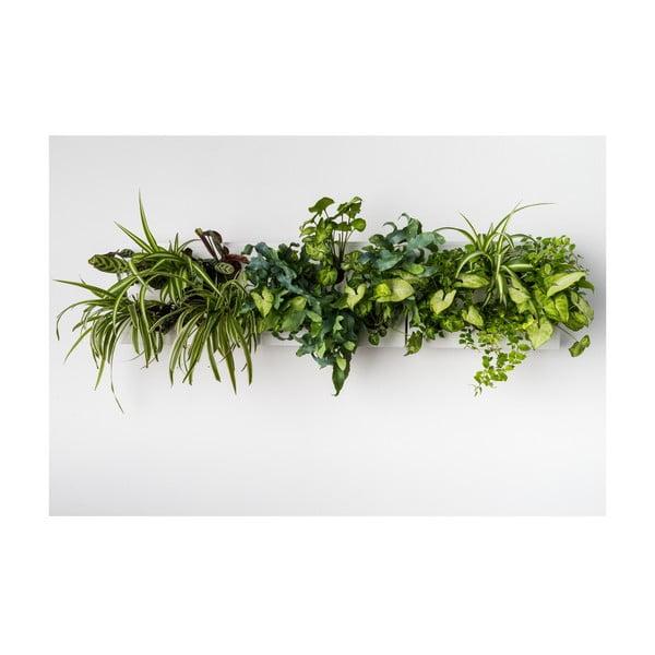 Vertikálny kvetináč HOH! s neviditeľným stojanom Trio Smart Bianco, 83x38 cm