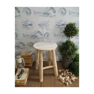 Stolička z teakového dreva Orchidea Milano, výška 45 cm