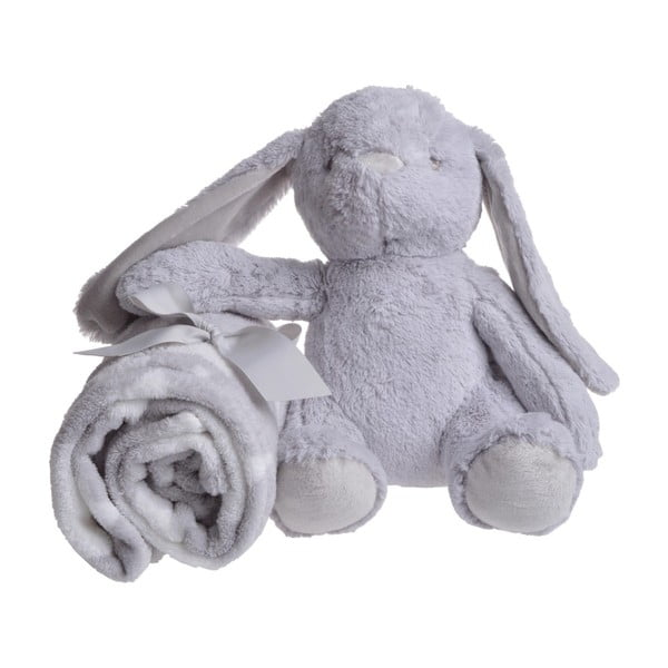 Sada plyšového zajačika a deky Gray