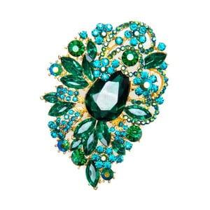 Brošňa Festive Smeraldo