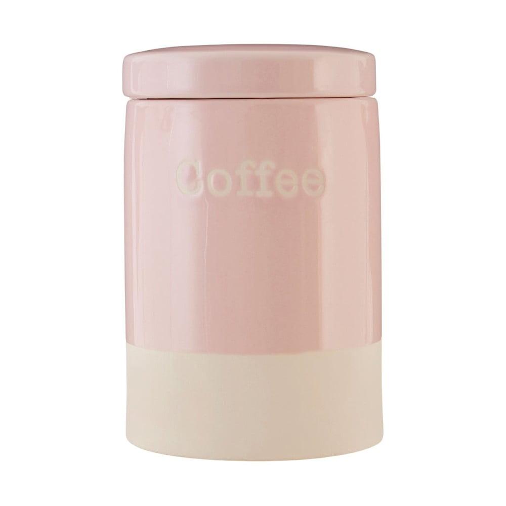 Ružová kameninová dóza na kávu Premier Housewares, 616 ml