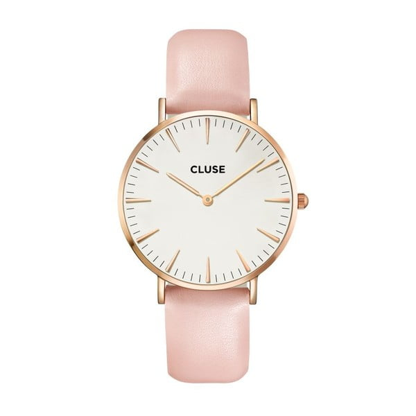 Hodinky CLUSE La Bohème Rose Gold/White Pink