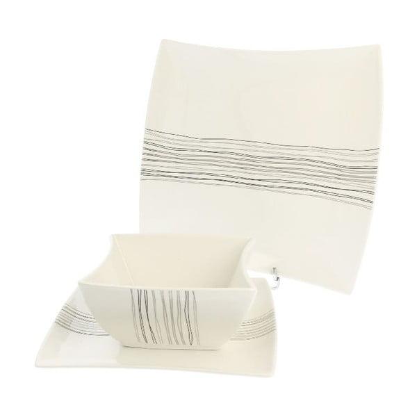 18-dielna porcelánová sada Duo Gift Silver Line