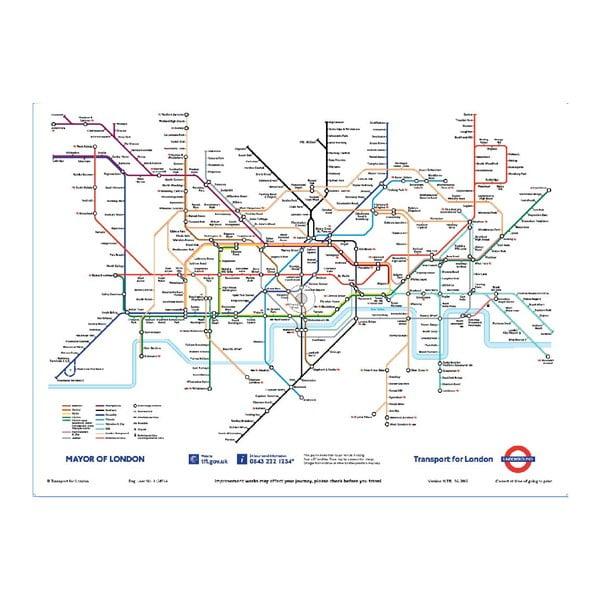 Veľkoformátová tapeta Londýnské metro, 158x232 cm