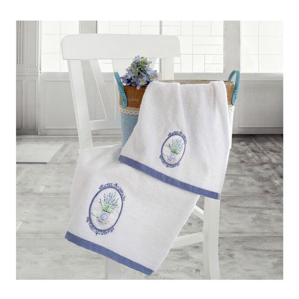 Set bielej osušky a uteráku Irya Home Spa, 30x50 cm a 50x90 cm