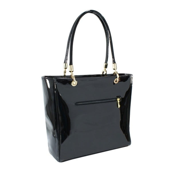 Kožená kabelka Boscollo Black 3013