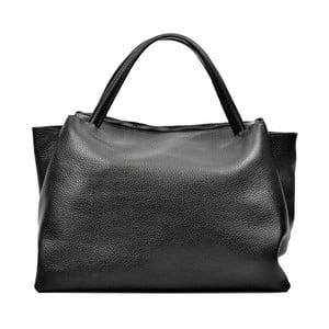 Čierna kožená kabelka Carla Ferreri Celha Mento