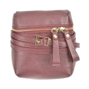 Vínovočervená kožená kabelka Renata Corsi Daluda