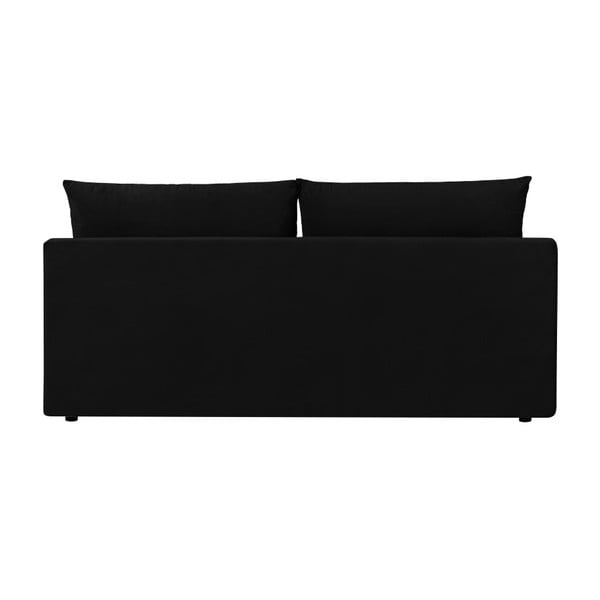Čierna trojmiestna rozkladacia pohovka s úložným priestorom Melart Robert