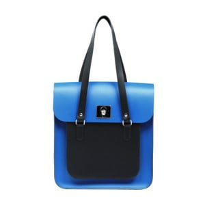 Modro-čierna kožená kabelka Brix + Bailey Rosemont