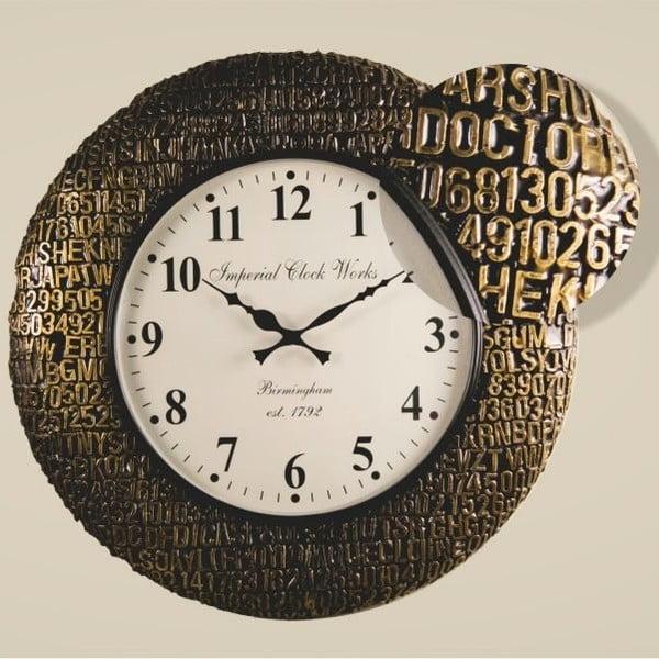 Nástenné hodiny Zlatočierny rám