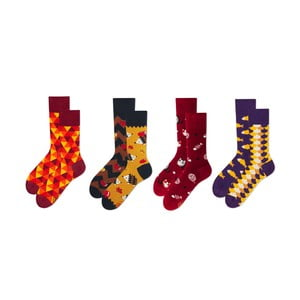 Sada 4 párov ponožiek v darčekovom balení Many Mornings Playful, veľ. 43–46