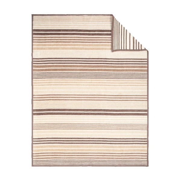 Deka Beige Stripe, 150x200 cm