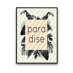 Plagát s kvetmi Paradiso, 30x40 cm