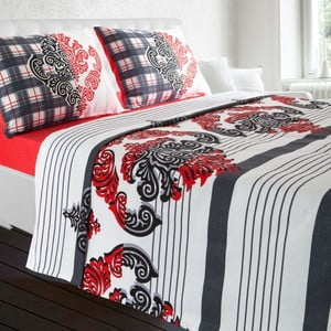 Obliečky Gloria White/Red, 200x240 cm