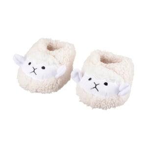 Biele papuče s ovečkami Le Studio