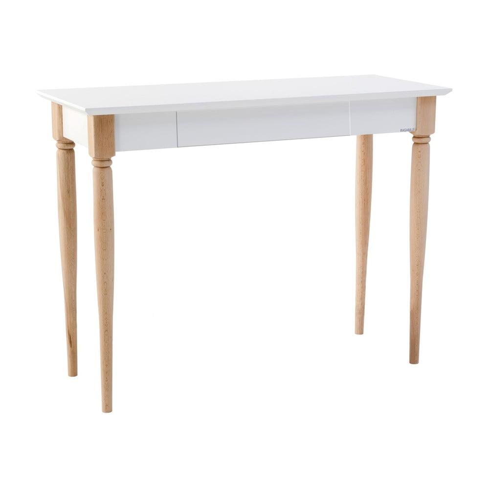 Biely pracovný stôl Ragaba Mamo, šírka 105 cm