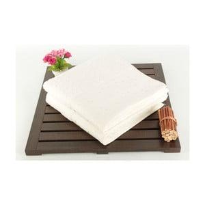 Sada 2 bielych uterákov Tomur Ecru, 50 x 90 cm