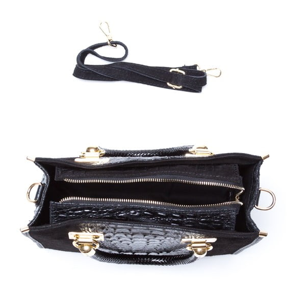 Kožená kabelka Celestina, čierna