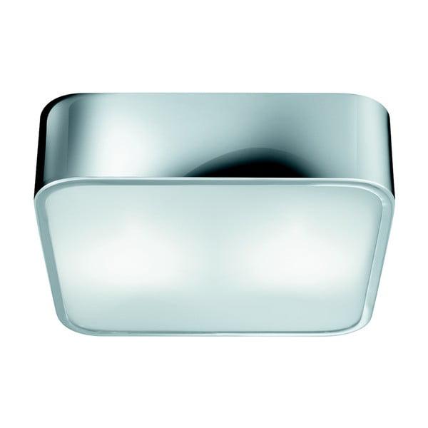 Stropné svietidlo Searchlight Flush, 30 cm, strieborná