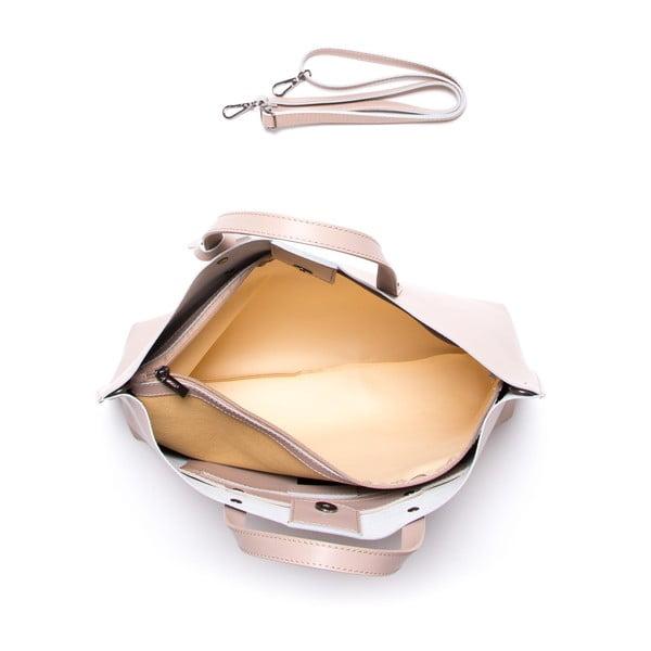 Kožená kabelka Luisa Vannini 3034, ružová