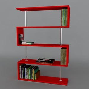 Knižnica Sunrise Book Red, 22x90x129 cm