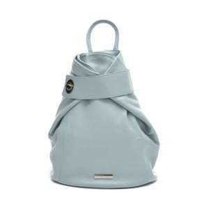 Modrý kožený batoh Anna Luchini Celeste