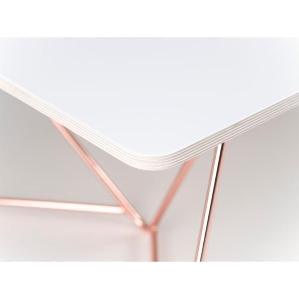 Doska konferenčného stolu Flat Coffee - biela, 110x70 cm