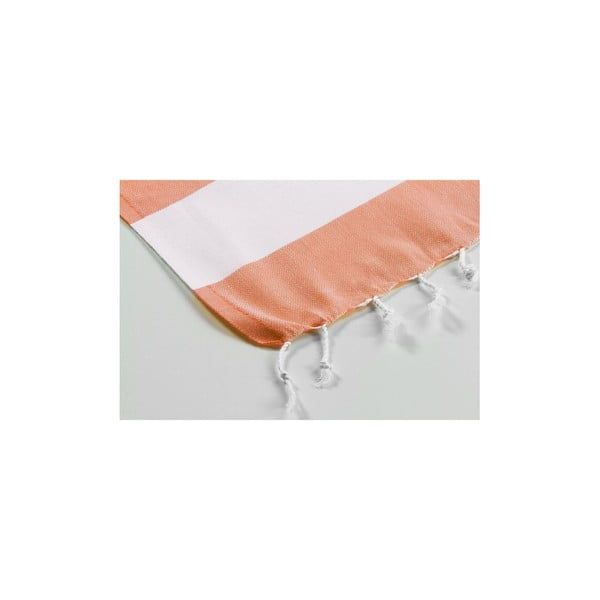 Hamam osuška Myra Orange White, 100x180 cm