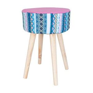 Ružovo-modrá stolička Clayre & Eef Vagon