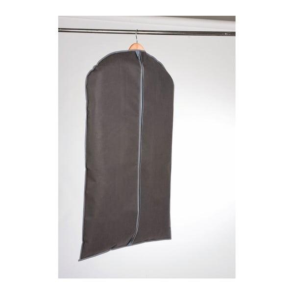 Sivý závesný obal na šaty Compactor Garment, dĺžka 100 cm
