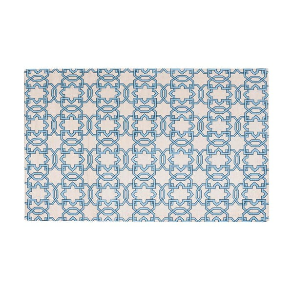 Vysokoodolný kuchynský koberec Tiles Blue, 80x130 cm