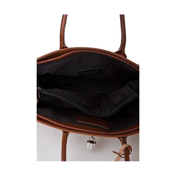 Kožená kabelka Giorgio Costa 15019 Cognac