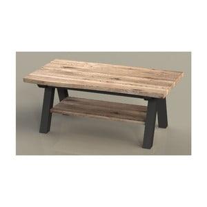 Konferenčný stolík z dreva bieleho duba Unique Furniture Oliveto