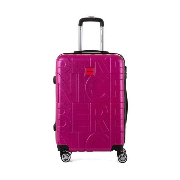 Sada 3 ružových cestovných kufrov Berenice Typo