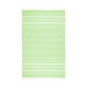 Neónovozelená osuška s prímesou bavlny Kate Louise Cotton Collection Classic Neon Green, 100 × 180 cm