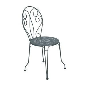 Tmavosivá kovová stolička Fermob Montmartre